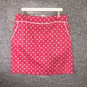 NWT Talbots Pink Skirt with Bee Detail - 16